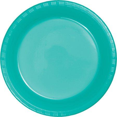 Creative Converting Teal Lagoon Plastic Plates, 20 ct
