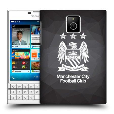OFFICIAL MANCHESTER CITY MAN CITY FC CREST GEOMETRIC HARD BACK CASE FOR BLACKBERRY PHONES
