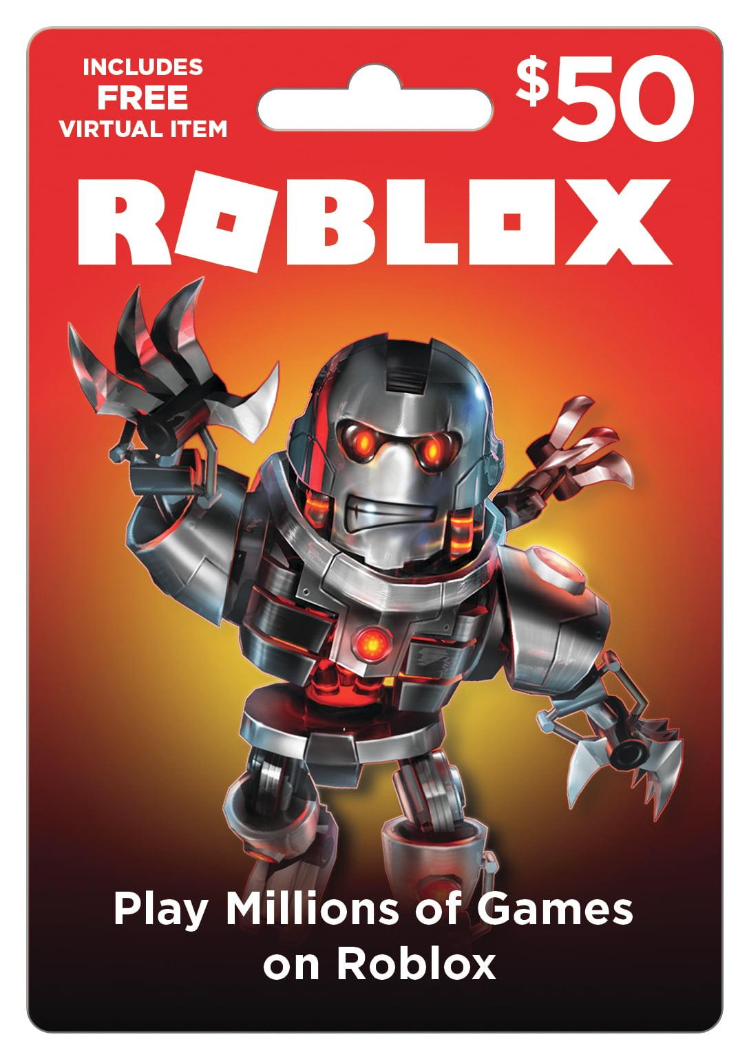Roblox $50 Game Card, [Digital Download] - Walmart.com