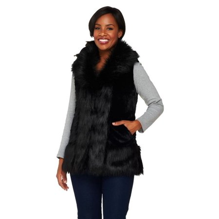 Joan Rivers Reversible Faux Fur Quilted Puffer Vest A259192 ()