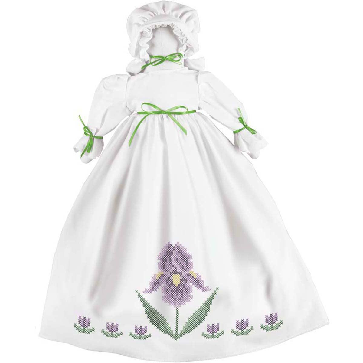 Herrschners® Flower Garden Pillowcase Doll Stamped Cross-Stitch Kit
