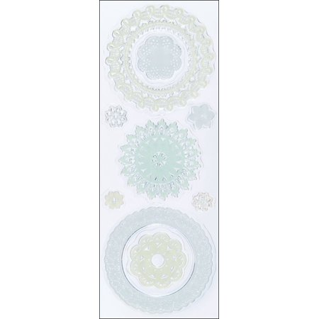 Clear Stamps, Doilies, Use to create beautiful embellishments for cards, scrapbook pages, gift tags, place cards, and decorating project By Martha Stewart Crafts