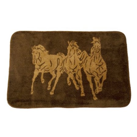 HiEnd Accents Three Horses Kitchen and Bath Western Rug, Chocolate - image 1 of 1