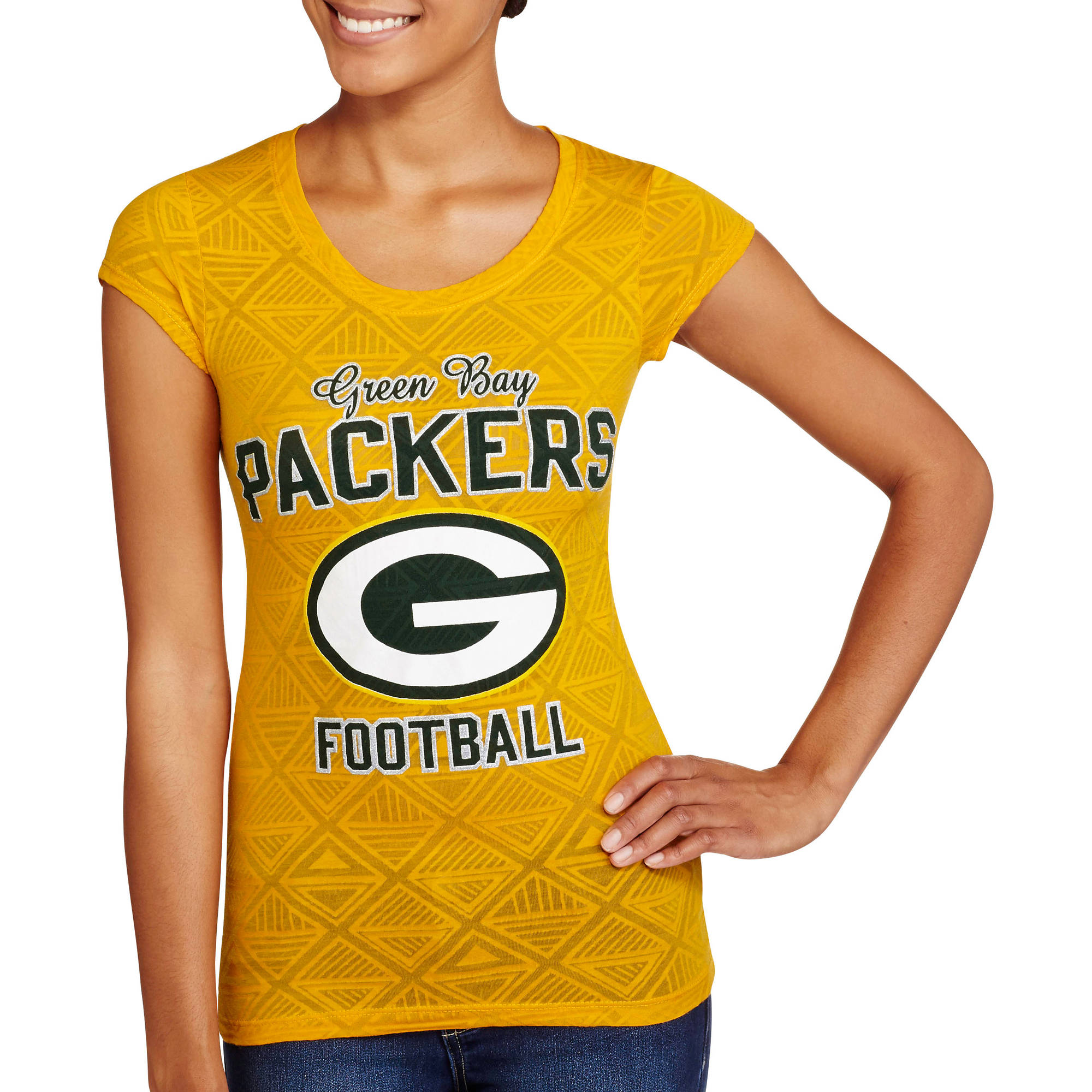 NFL Juniors Packers Short Sleeve Burnout Tee