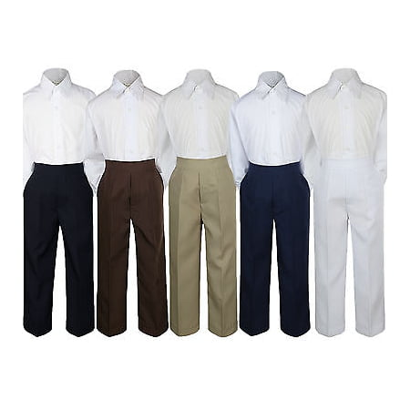 2pc Boy Toddler Teen Kid Formal Party Tuxedo Suit White Shirt & Pants set Sm-20