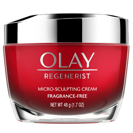 Olay Regenerist Micro-Sculpting Cream Face Moisturizer, Fragrance-Free 1.7 (What's The Best Moisturizer)