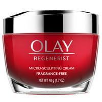 Olay Regenerist Micro-Sculpting Cream Face Moisturizer, Fragrance-Free 1.7 oz