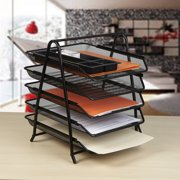 8d9455cdb Mind Reader Desk Organizer with 5 Sliding Trays for Letters, Documents,  Mail, Files