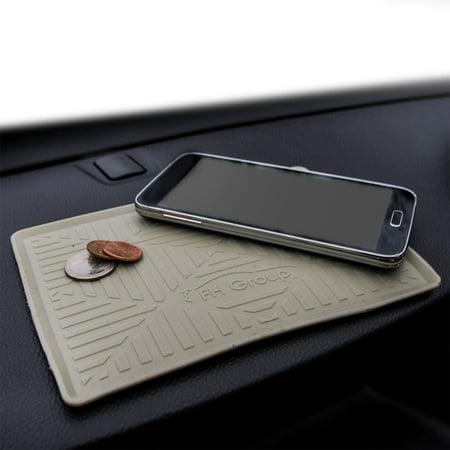 FH Group Odorless Waterproof Silicone Anti Slip Dash Mat, Beige Caramel Dash Cover Mat