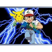 Pokemon Pikachu Electric Shock Thunderbolt Edible Cake Topper Frosting 1/4 Sheet Birthday Party