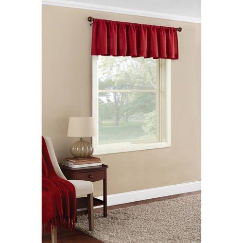 . Mainstays Textured Solid Curtain Valance