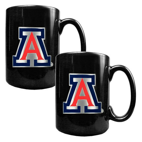 NCAA - Arizona Wildcats 2pc. Black Ceramic Mug Set