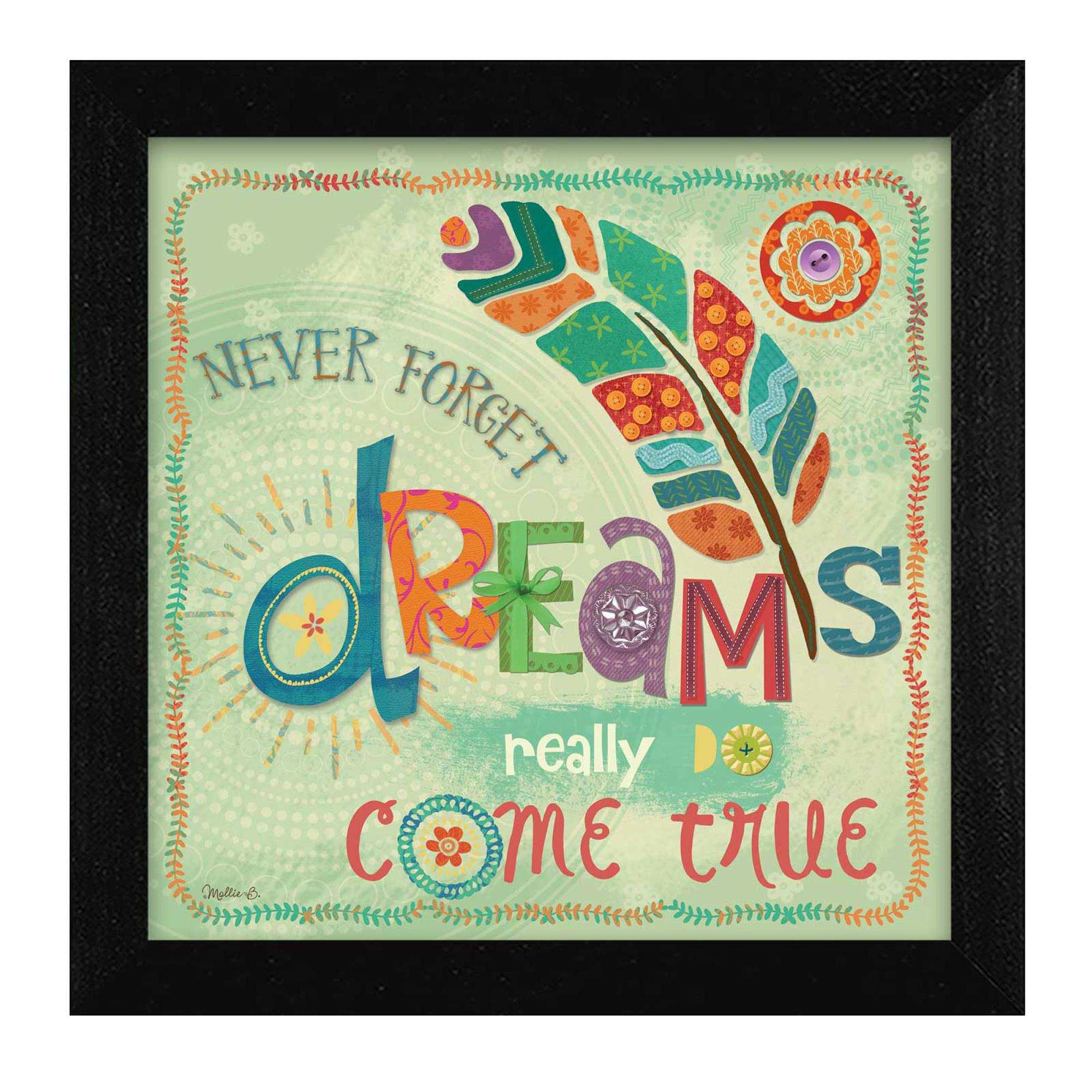 "''Dreams Come True"" by Mollie B Printed Framed Wall Art - image 2 of 2"