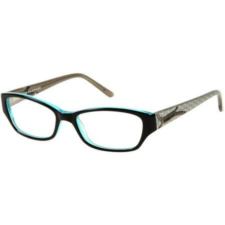 Rampage Eyewear Ladies Rx-able Eyeglass Frames, Black - Walmart.com