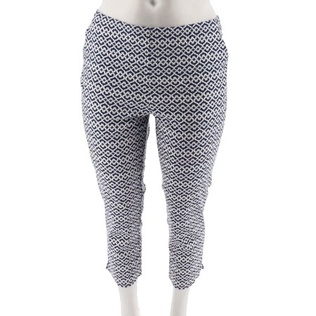 Dennis Basso Stretch Cotton Sateen Cropped Pants A291577 (Cotton Sateen Crop)