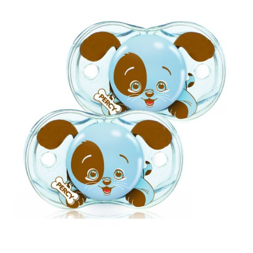 Keep-It-Kleen Pacifier Percy Puppy, Silicone nipple By Razbaby,USA