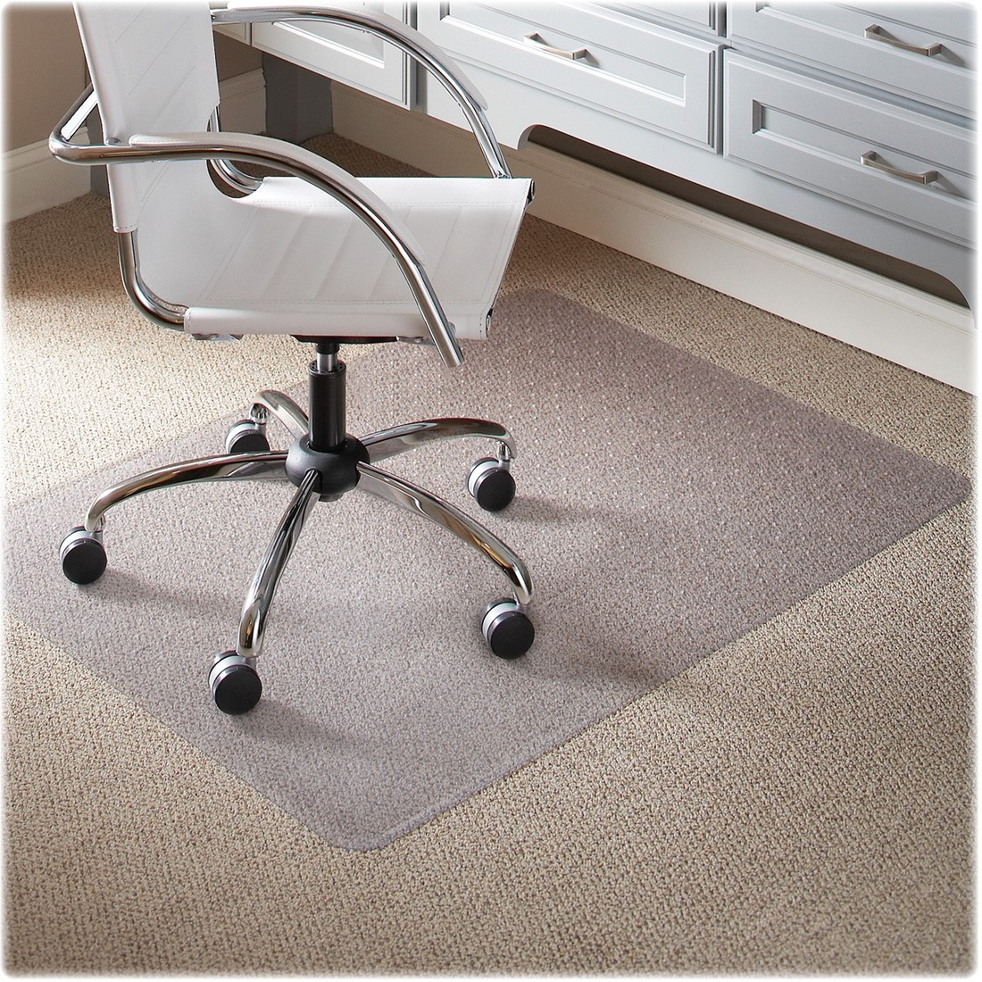 ES Robbins Task Series 46 x 60 Chair Mat for Low Pile Carpet, Rectangular