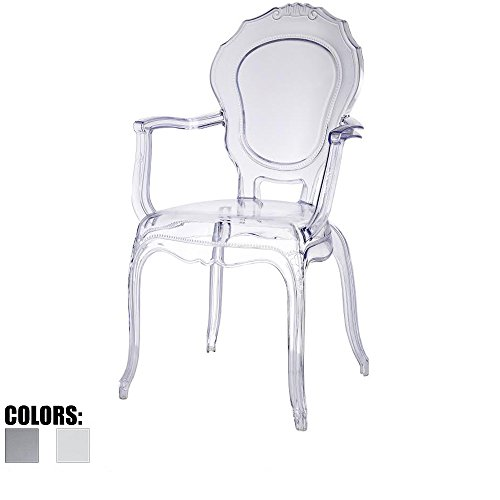 2xhome Smoke Belle Style Ghost Chair Ghost Armchair Dining Room Chair Smoke Armchair Lounge Chair Seat High Modern... by 2xhome