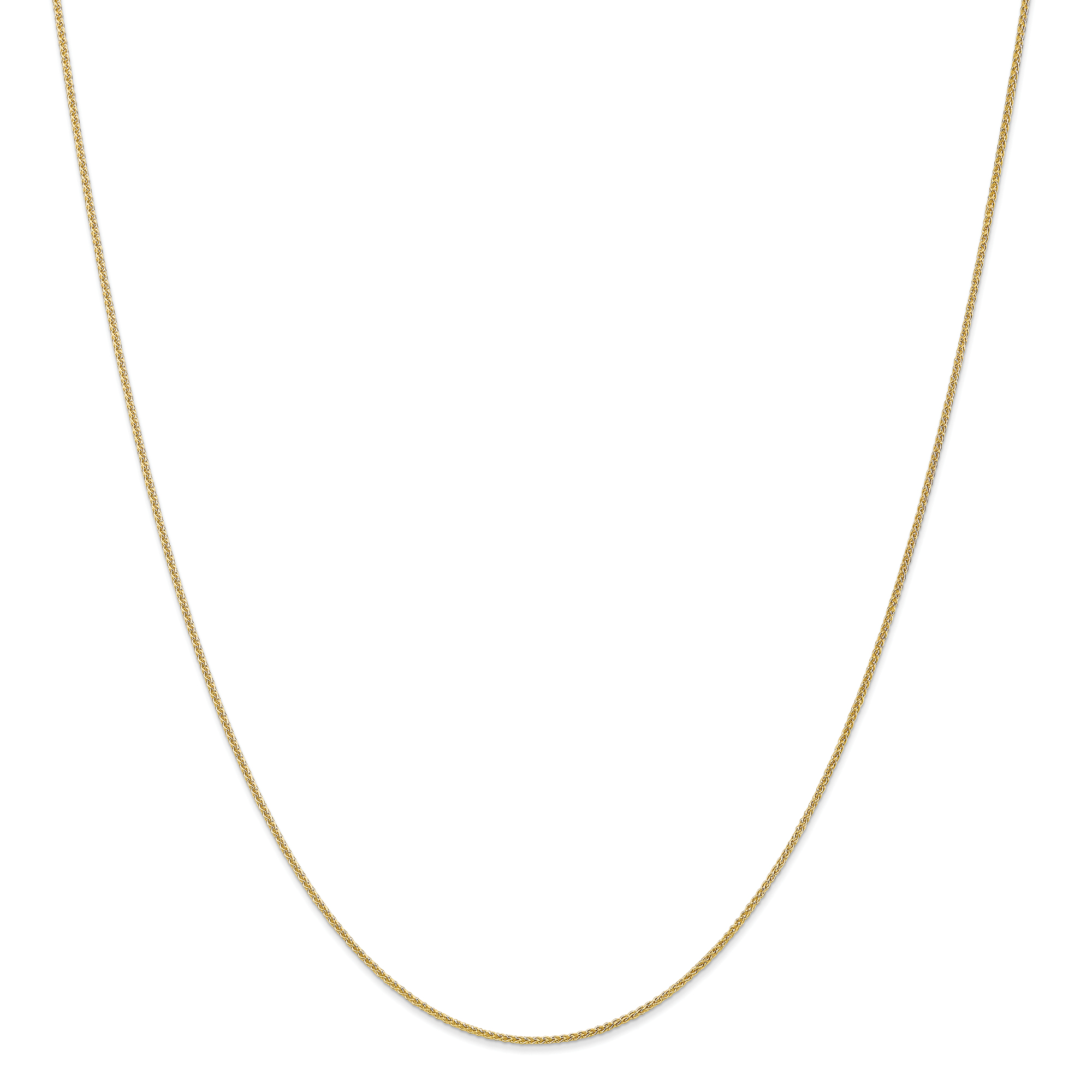 10k Yellow 20in Gold 1.00mm Wheat Necklace Chain