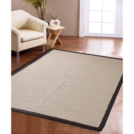 Affinity Home Collection Eco Natural Cotton Border Jute Rug (3' x 5')