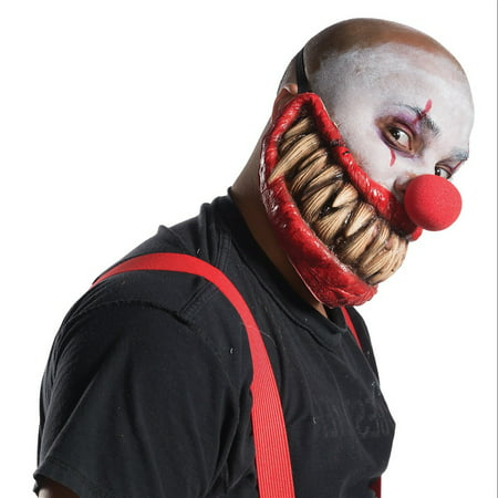 Killer Smile Adult Creepy Clown Overhead Latex Halloween Mask
