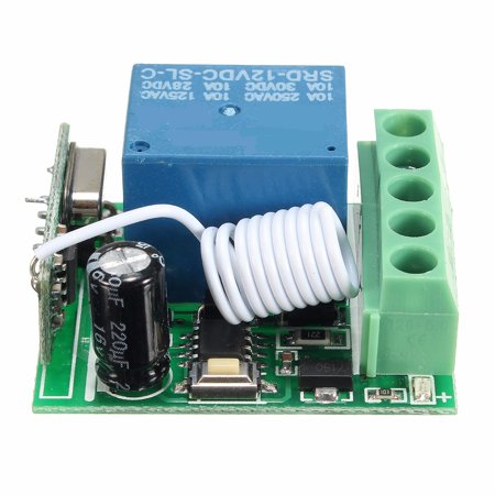 DC12V 10A 1CH Channel Wireless relaymodule Relay RF Remote Control Switch Receiver (4 Channel Remote Control System For Relays)
