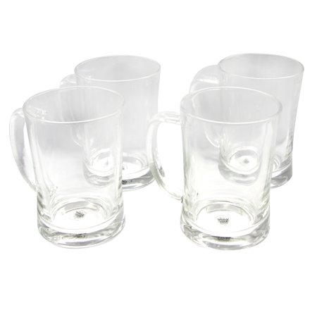 General Store 4-Piece 23 oz. Beer Mug Clear Glass