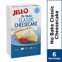 (4 Pack) Jell-O No Bake Real Cheesecake Dessert Mix, 11.1 oz Box