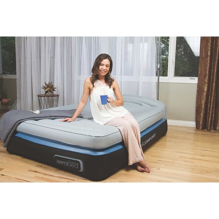 Aerobed Opti Comfort Queen Air Mattress With Headboard Walmart Com
