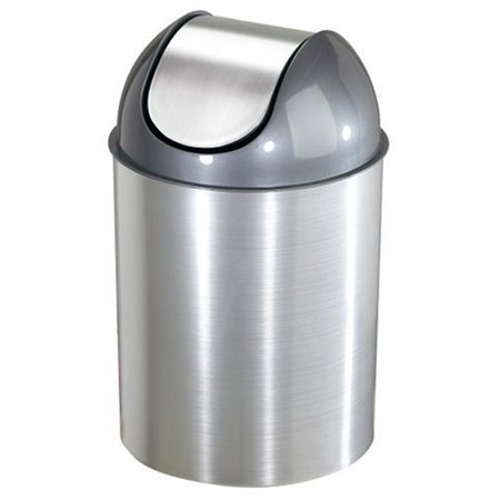 - Mezzo 2.5-Gallon Swing-Top Waste Can, Nickel
