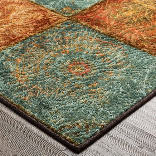 Red Barrel Studio Aftonshire Rust Red Blue Gold Area Rug Walmart Com