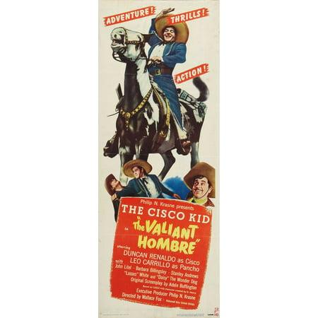 The Valiant Hombre POSTER Movie Insert A (14x36) - Vampiro Halloween Hombre