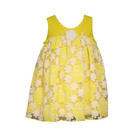 Bonnie Jean Baby Yellow Daisy Tulle Dress 0-3 months (Bonnie Jean Halloween Ghost Tutu Dress)