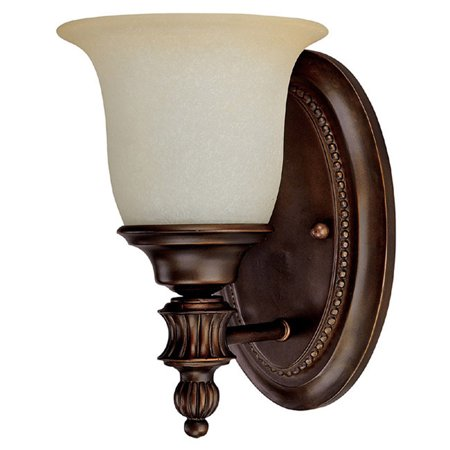 Capital Lighting Avery   One Light Bath Vanity  Burnished Bronze Finish With Mist Scavo Glass