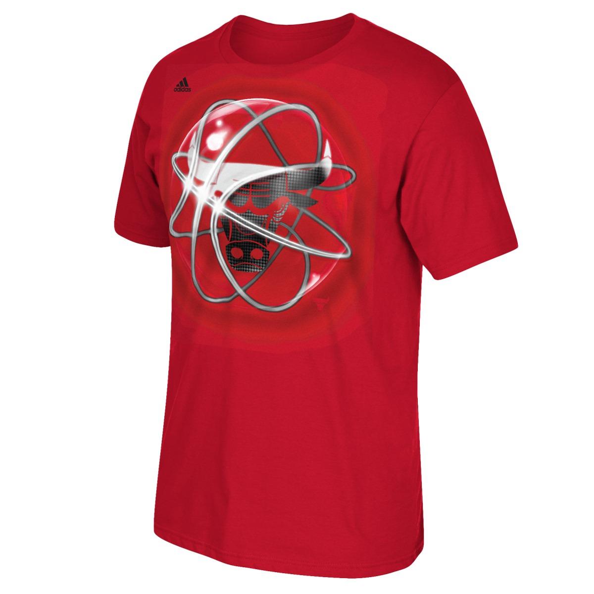 """Chicago Bulls Adidas NBA """"Horizons"""" Premium Print S/S Men's T-Shirt"""