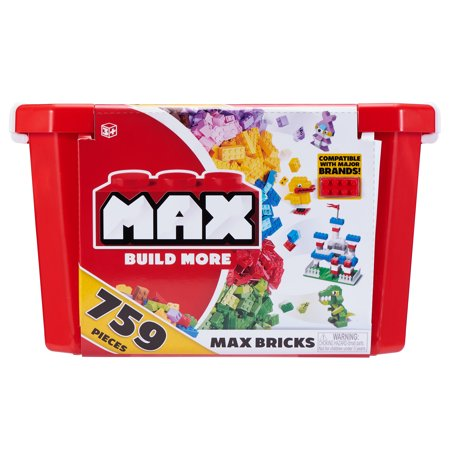 - Max build more building bricks value set (759 bricks) - major brick brands compatible