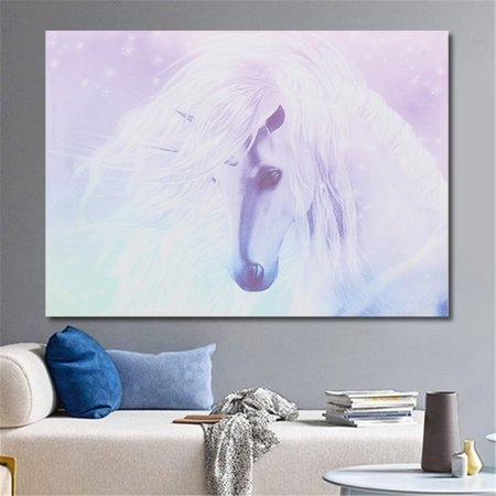 Canvas Wall Art - Unicorn Canvas Print Art Painting Wall Picture Home Kids Room Decor Cartoon | Modern Home Decor Ready to Hang