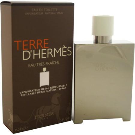 Terre-DHermes-Eau-Tres-Fraiche-by-Hermes-for-Men-5-oz-EDT-Refillable-Metal-Spray