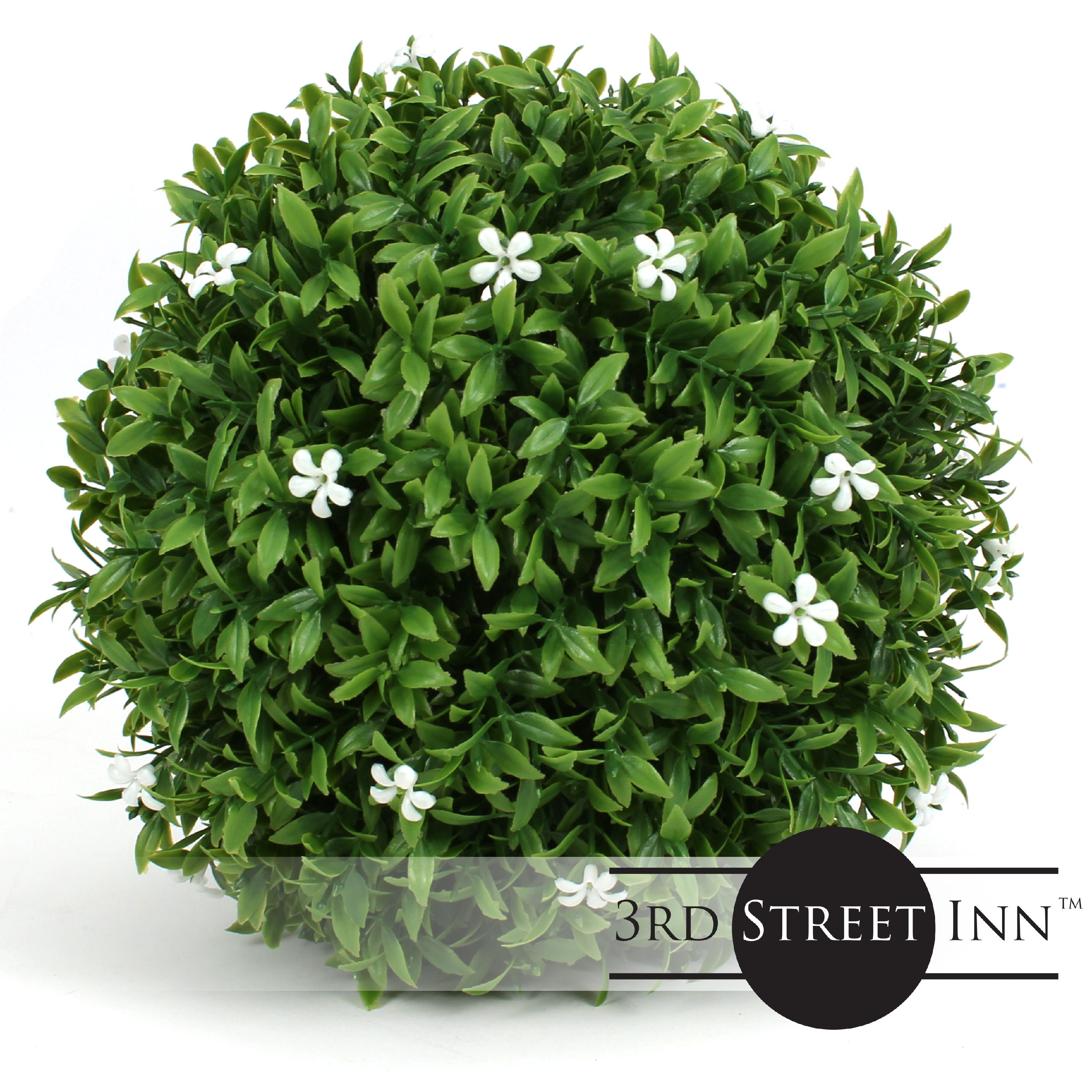 3rd Street Inn White Flower Topiary Ball 7 Artificial Topiary Plant Wedding Decor Indoor Outdoor Artificial Plant Ball Topiary Tree Substitute 2 White Flower Walmart Com Walmart Com