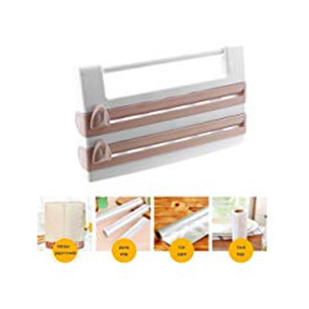 Powstro Wall Mounted Kitchen Paper Holder Hanger Tissue Towel Roll