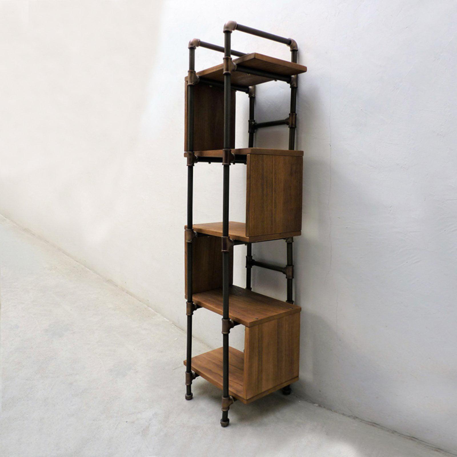 Furniture pipeline tucson modern industrial etagere bookcase