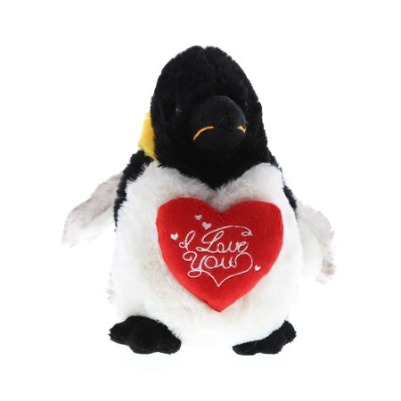 Super Soft Plush Dollibu Emperor Penguin I Love You Valentines
