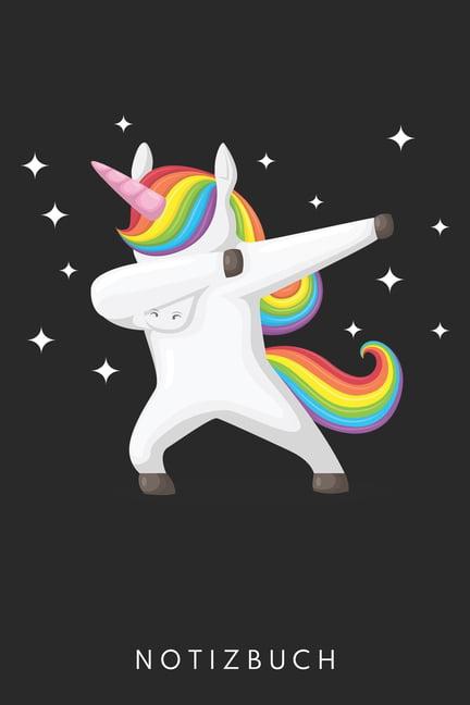 einhorn zeichnung mit regenbogen pferd mhne din a5 heft