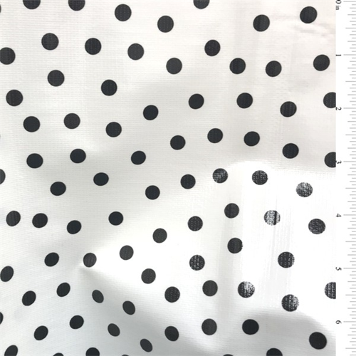 Black Dot Oilcloth, Fabric By the Yard
