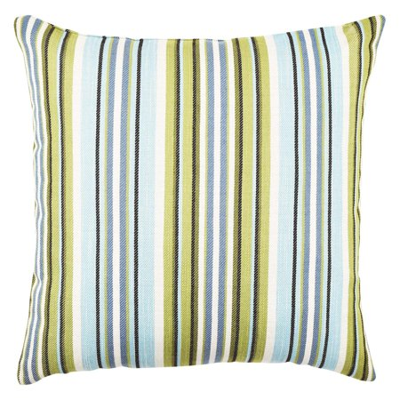 Vesper Lane Blue and Green Striped Throw Pillow