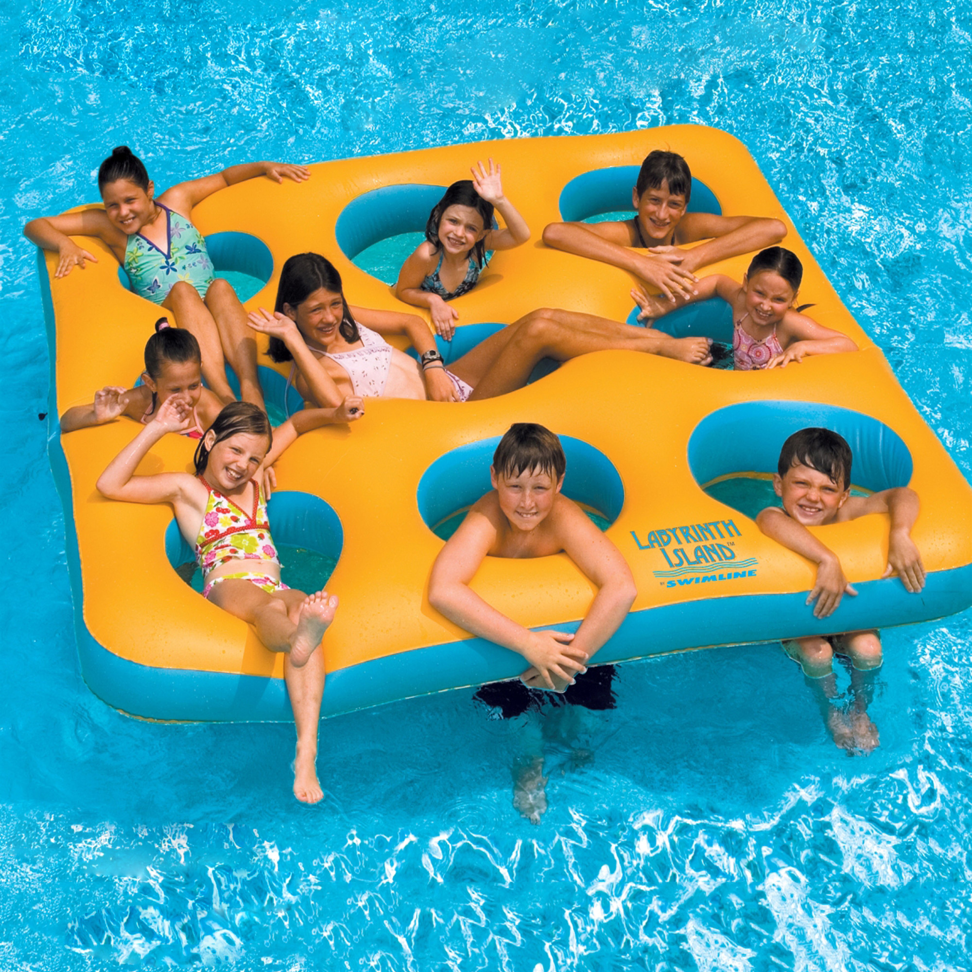 Swimline Labyrinth Island Inflatable Pool Toy by Blue Wave