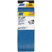 Norton 49274 3X High Performance Power Sanding Belt, 24 in x 4 in, 120 Grit