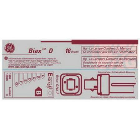 G E Lighting 97579 18-Watt CFL Plug In 2 Pin Double Biax Bulb - Quantity - Biax 2 Pin Plug