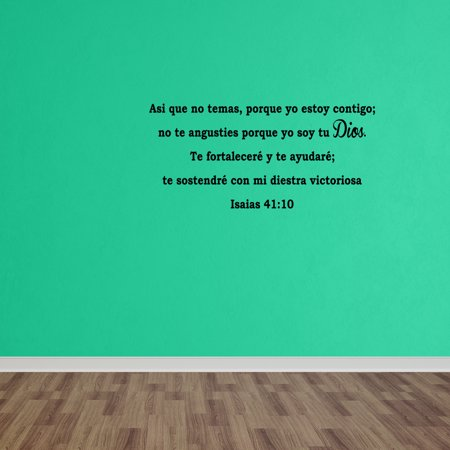 Halloween Quotes In Spanish (Wall Decal Quote Isaas 41:10 As Que No Temas Bible Decal Spanish Decal)