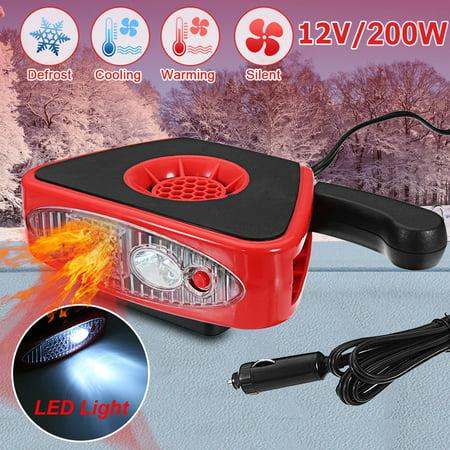 2 in 1 12V 200W Auto Car Heater Cooler Dryer Fan Portable Defroster Demister Warmer Efficient Heat Dissipation Design